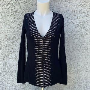 Belldini rhinestone black zip jacket 🧥